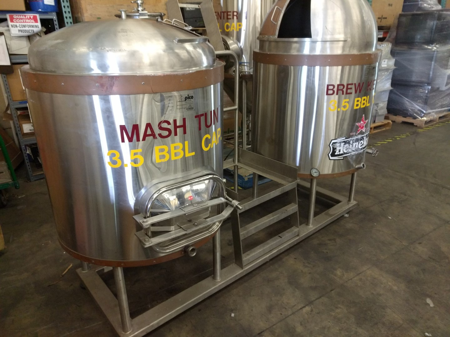 Pico Brewing 3 5 Bbl Beer Brew System Kettle Mash Tun 2x