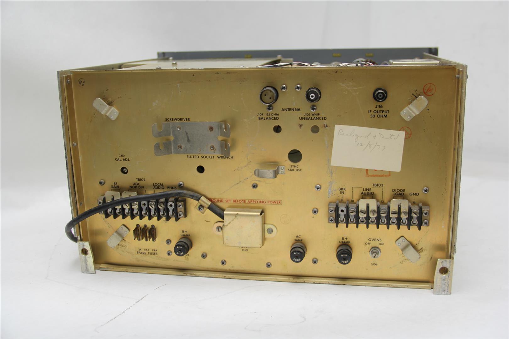 Vintage Stewart Warner R 390a Urr Hf Communications