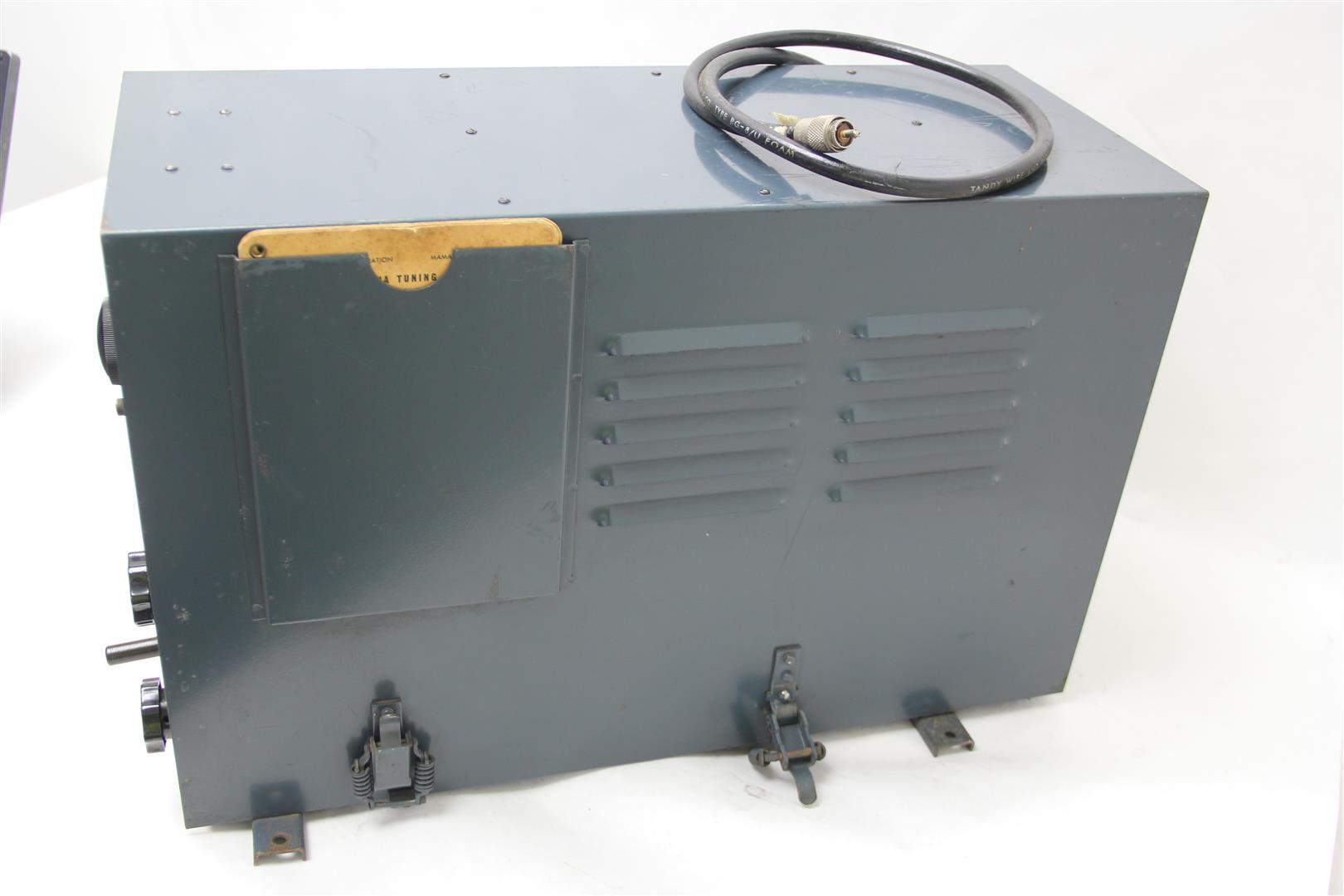 Tmc Antenna Tuning Unit Tac Legal Limit Manual Tuner 2 30 Megacycles Ham Radio