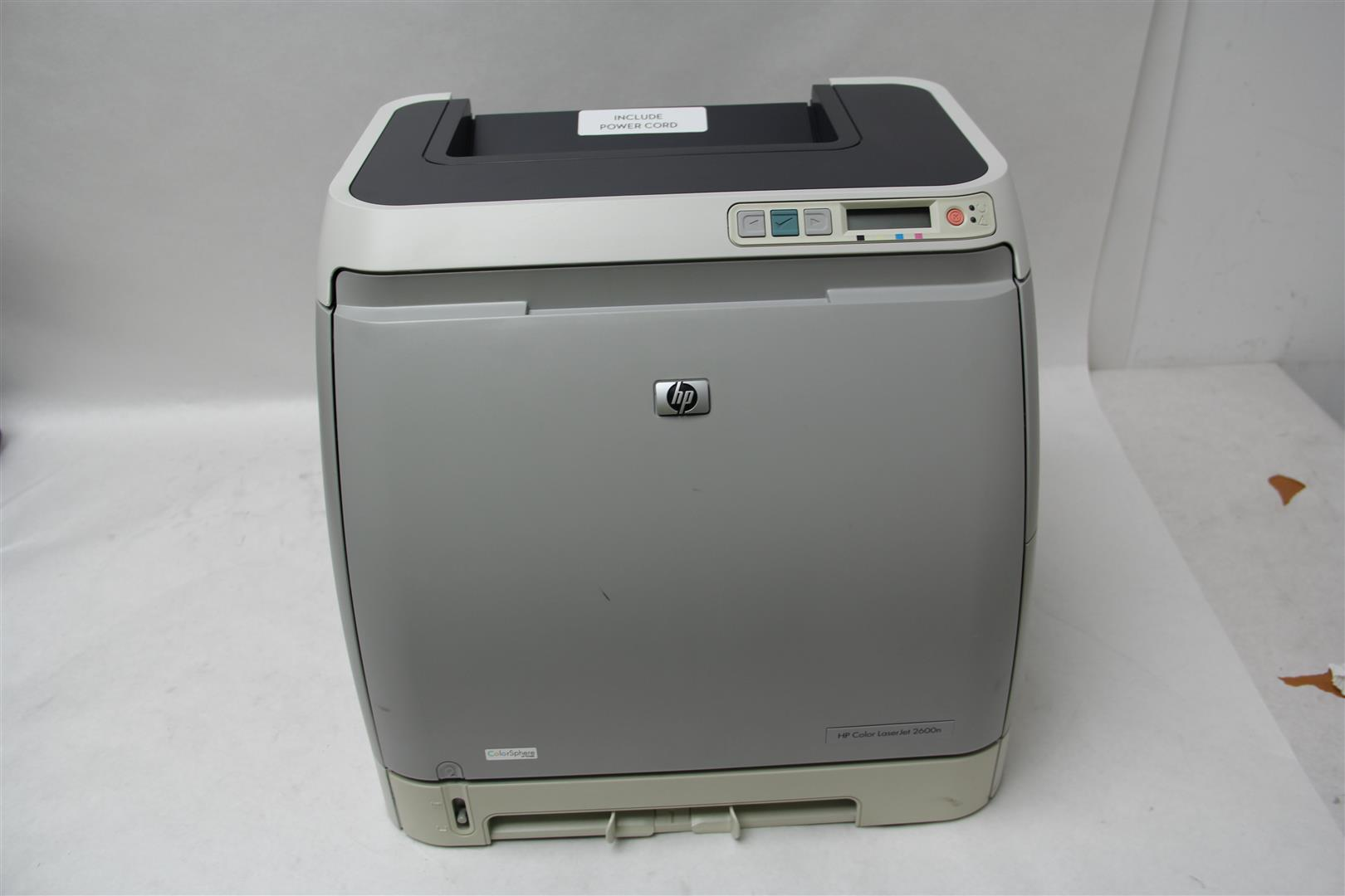 hp color laserjet 2600n workgroup printer q6455a with 94 color toner tested ebay. Black Bedroom Furniture Sets. Home Design Ideas