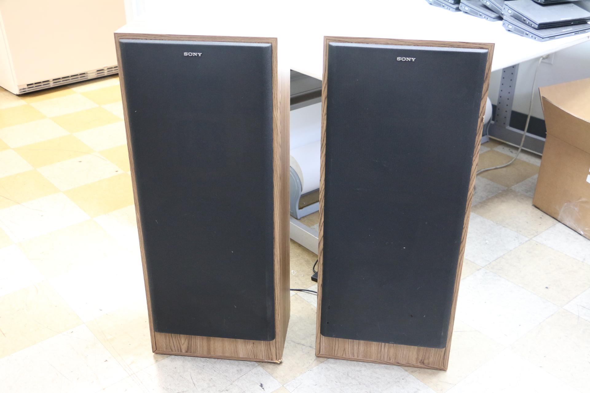 Pair of vintage sony ss u530 floor standing 270w 3 way for 12 floor speaker
